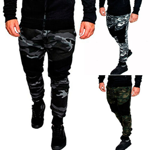 Mens Military Army Cargo Trousers Combat Camouflage Jogging Long Pants Bottoms