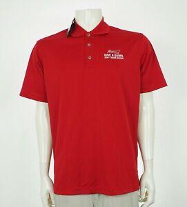 New-Adidas-Budweiser-Beer-Red-Blend-Golf-Polo-Shirt-Mens-Medium