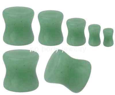"PAIR of size 8g  to 1//2/""  Aventurine Stone Saddle Plugs Choose Size"