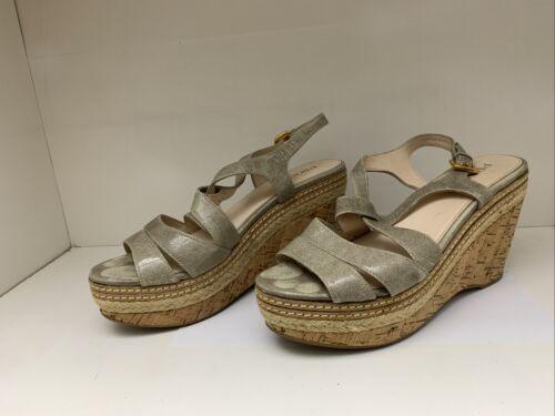 Prada Wedge Sandels Size 38 1/2 woman used