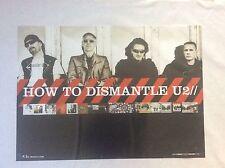 How to Dismantle U2 Island Records Group Rock Promo Music Poster Memorabilia