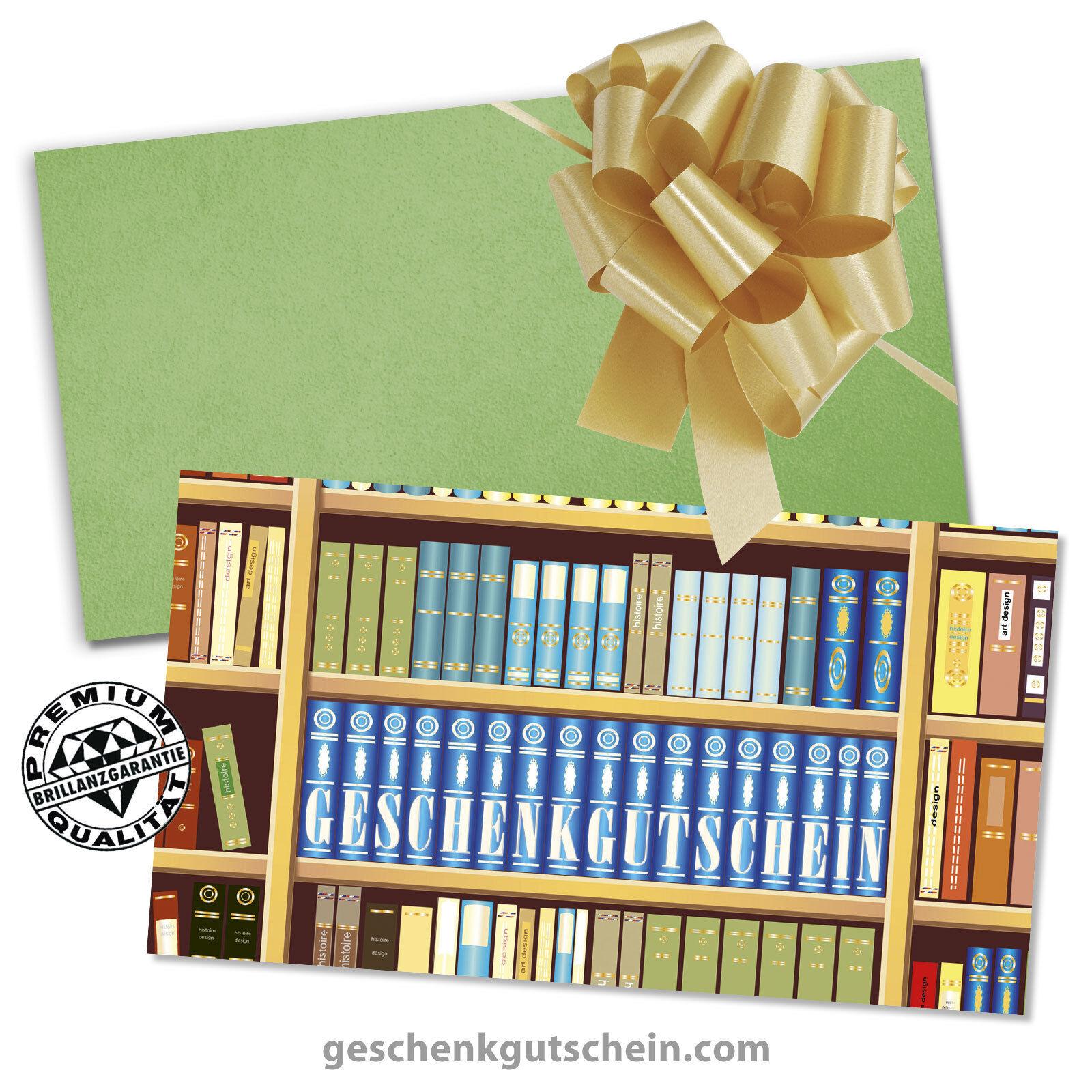 Gutscheinkarten mit KuGrüns und Schleifen für Buchhandlungen Bibliotheken BU1221 BU1221 BU1221 e2b1a2