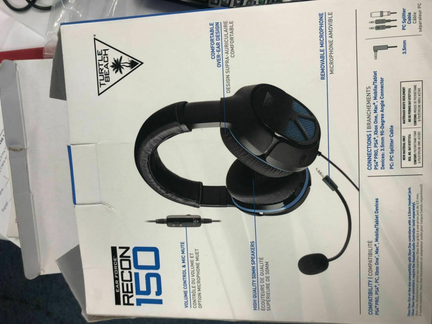 Turtle Beach Recon 150 Gaming Headset PlayStation 4 Ps4 PC
