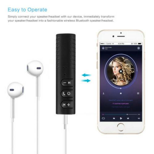 Universal 3.5mm Music Audio Receiver Wireless Bluetooth Car Kit Auto AUX Adapter