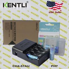 KENTLI 1.5V POLYMER LITHIUM RECHARGEABLE AAA LiPo BATTERIES w/ CHARGER