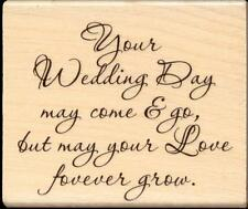 STAMPENDOUS rubber stamp YOUR WEDDING  wood mounted, Sentiments