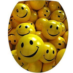 sticker WC, sticker flap toilet deco Smiley 325 3000299615500 | eBay