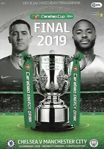 CHELSEA-v-MANCHESTER-CITY-2019-Carabao-Cup-Final-Programme-New-Free-UK-Post