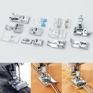 11pcs Multi Function Presser Foot Domestic Sewing Machine Feet Accessories SetEB