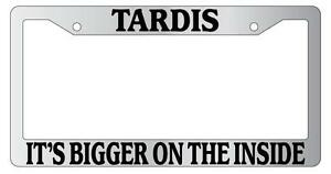 image is loading chrome license plate frame tardis it 039 s - Doctor Who License Plate Frame