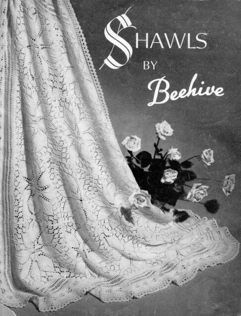 Vintage Baby Shawl~ Rose Medallions & Rose Petal Border~ 3 Ply  Knitting Pattern