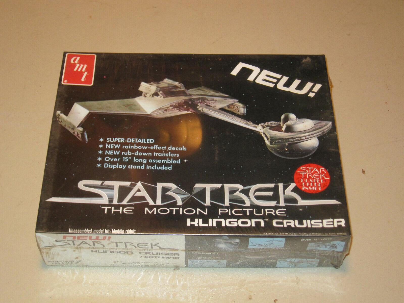 Klingon Cruiser stjärna Trek Motion Picture AMT modellllerler Kit SEALED NIB S971801