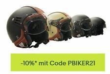 Rollerhelm Motorradhelm Jethelm Halbschalenhelm Leder Helm Größe S, M, L, XL,XXL