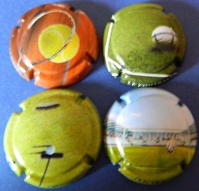 Série de  4 capsules  Champagne Générique LES SPORTS ref.960 à 960c