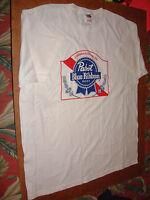 Pbr Pabst Blue Ribbon T-shirt Xl; Brand New, White