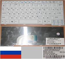 QWERTZ-TASTATUR RUSSISCH ACER ASPIRE ONE Serie ZG5 9J.N9482.20R weiß / weiß