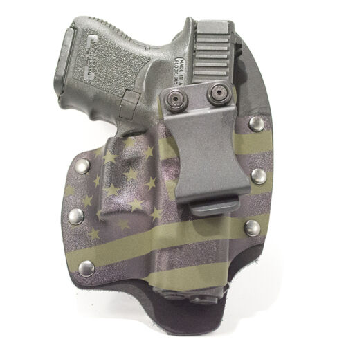 IWB Hybrid Kydex Holster USA Green /& Black for GLOCK Handguns