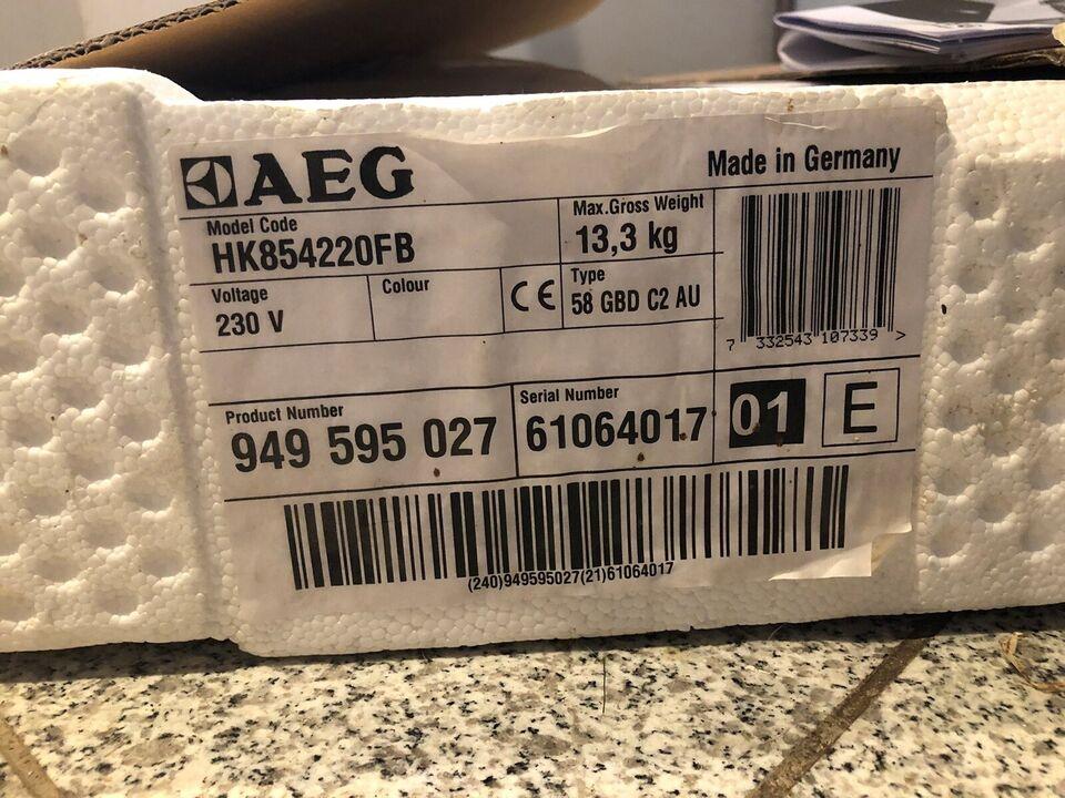 Induktionskogeplade, AEG HK854220FB, b: 78 d: 52 h: 5