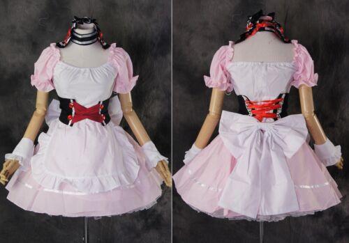 M-3139 S//M//L//XL//XXL rosa pink Dienstmädchen Maid Kleid dress Cosplay Kostüm