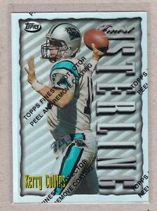 1996-Finest-Football-S12-41-Kerry-Collins-Refractor-Card-Panther