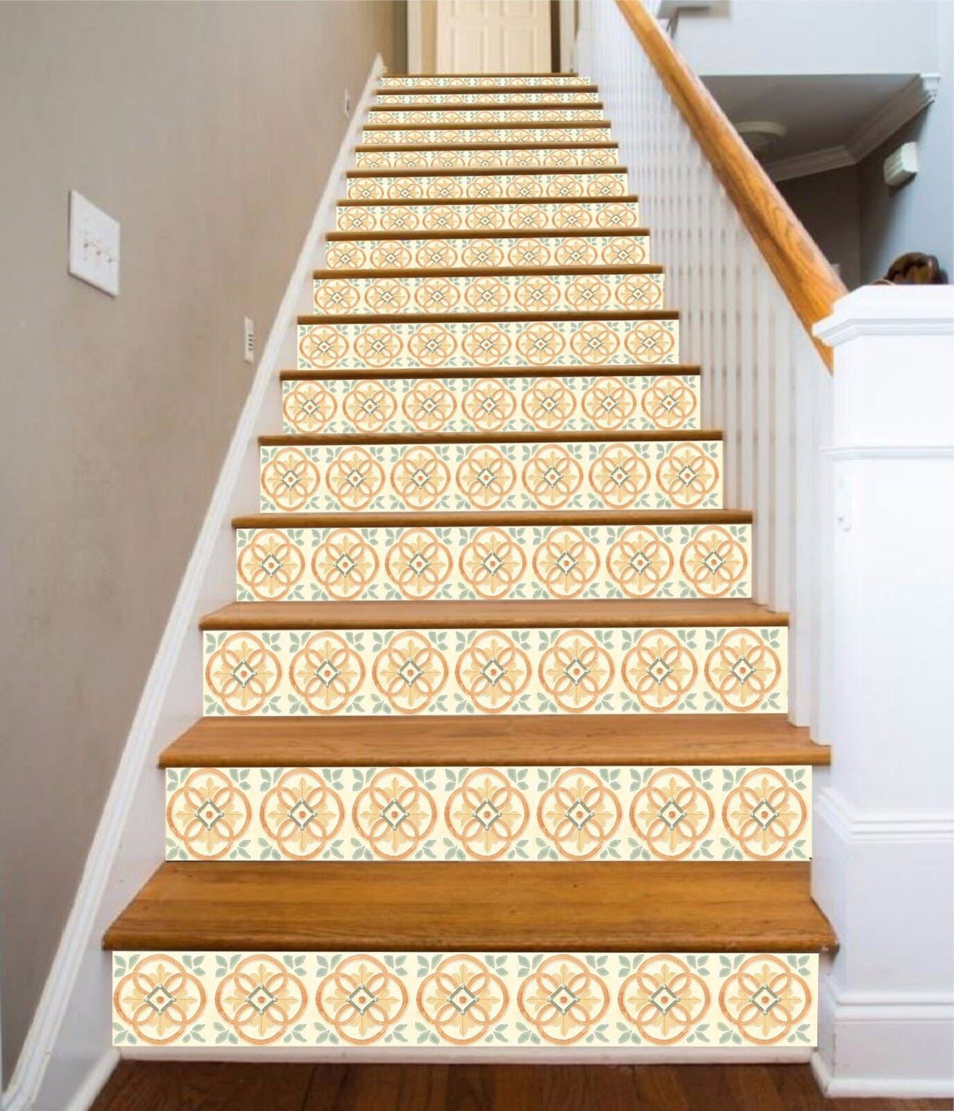 3D Retro Blaume 393 Stair Risers Dekoration Fototapete Vinyl Aufkleber Tapete DE