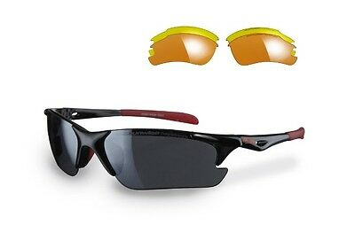 Sunwise Twister Golf/ciclismo/cricket/triathlon Occhiali Da Sole Lenti (3)-ricket/triathlon Sunglasses (3 Lenses) It-it Mostra Il Titolo Originale Buona Reputazione Nel Mondo