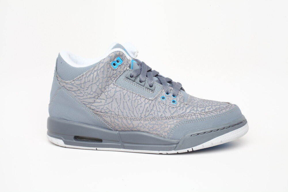 Nike Air Jordan 3 III Cool Grey 441015 Air Max BG GS sz 7