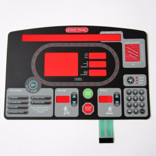 Star Trac Pro 7600 Treadmill Replacement Overlay//Keypad