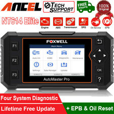 Foxwell Nt614 Elite Auto Obd2 Diagnostic Scanner Abs Srs Engine Ebp Oil Reset Us