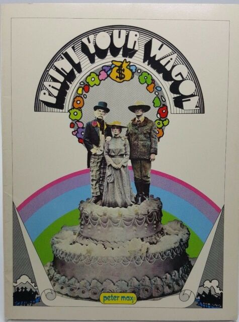 Paint your Wagon Souvenir booklet program 1969 Psychedelic Peter Max Mod