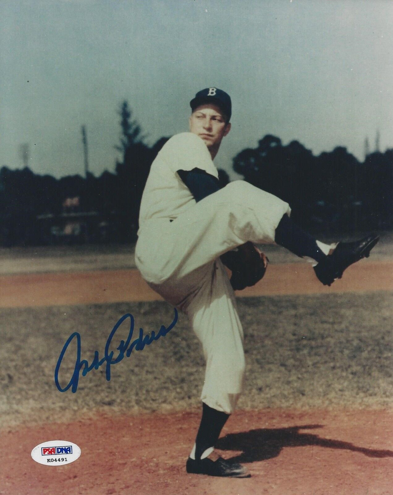 Johnny Podres Brooklyn Dodgers signed 8x10 photo PSA/DNA #K04491