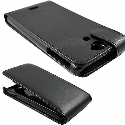 Magnetic Flip Full Black Hard Leather Case Cover Pouch For Sony Xperia V LT25i