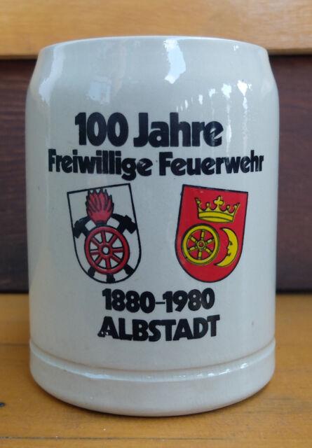 Bierkrug Sammlerkrug100 Jahre Freiwillige Feuerwehr Albstadt Seidel Bierseidel