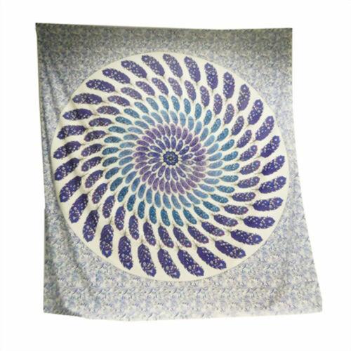 Feder Mandala Tagesdecken-Wandbehang-Dekotuch div Farben 210x240 cm