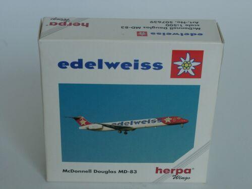 Herpa Wings MD-83 EDELWEISS 507639-1//500