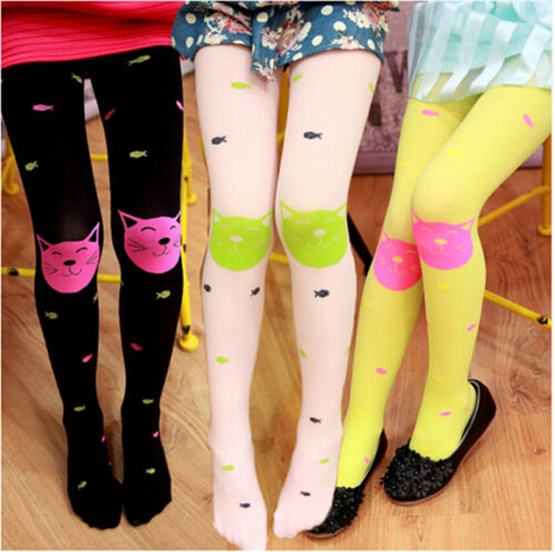 New High Quality girls tights Velvet candy colors Cat Fish Pantyhose for kids JH