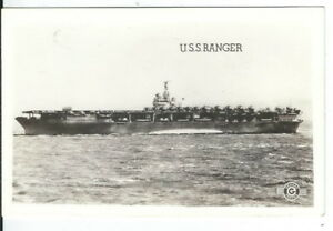 Details about CF-489 WWII U S  Navy Aircraft Carrier USS Ranger Ship Real  Photo Postcard RPPC