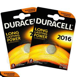 2-x-Pilas-Duracell-celda-de-moneda-de-litio-CR2016-DL2016-BR2016-3V