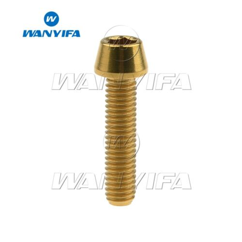 Titanium Ti Bolt M6x10 16 18 20 25 30 35 40 45 50 55 60 65mm Tapered Head Screws