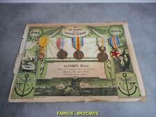 ENSEMBLE DE 5 MEDAILLES MILITAIRES EN MEMOIRE DE LA GRANDE GUERRE 1914-1918