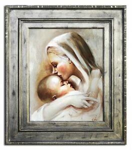 Religion-Mary-Handmade-Oil-Painting-Picture-Oil-Frame-Pictures-G17494