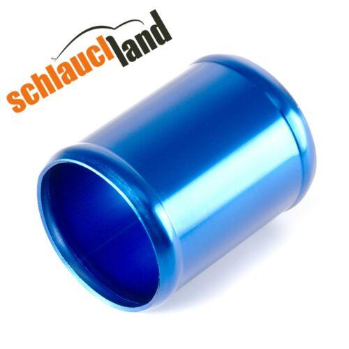 Alu-conectores ad 76mm azul *** alurohr tubo aluminio manguera de aluminio conector Turbo