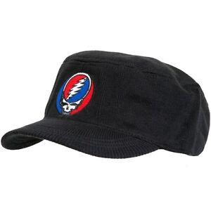 Grateful-Dead-Stealie-Black-Knit-Cadet-Cap