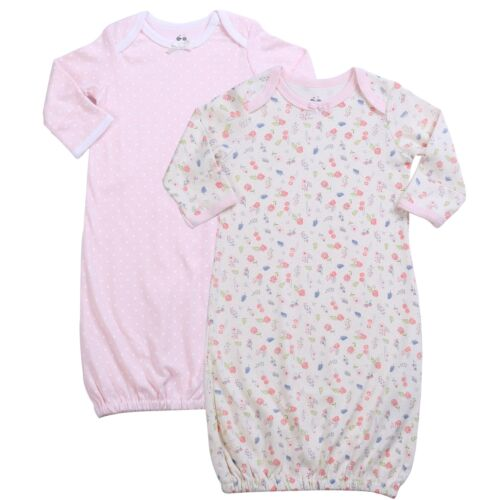 Asher /& Olivia Baby Gowns Baby Sleeper 2 Pc Girl Night Gown Wearable Blanket