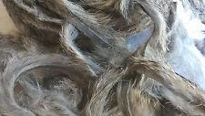 Peau fourrure de Lapin pour montage des mouche pêche Rabbit Fly Gris 4/5mm x 1m