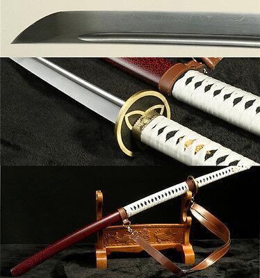 The Walking Dead Sword-Michonne/'s Katana Zombie Killer DAMASCUSFoldedSteelBlade