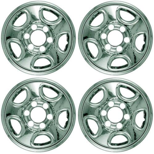 New Set of 4 16 Chrome Wheel Skins for 99-05 Silverado Tahoe Sierra Steel Wheel