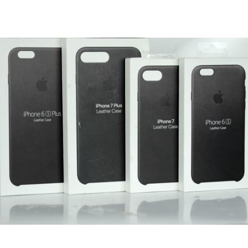Herlig Genuine Apple iPhone 7 Natural Leather Case Black Cv29 for sale GZ-54