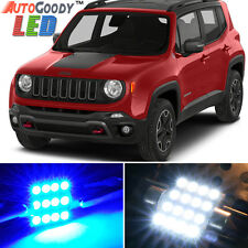 13 x Premium Blue LED Lights Interior Package for Jeep Renegade 2015-2017 + Tool