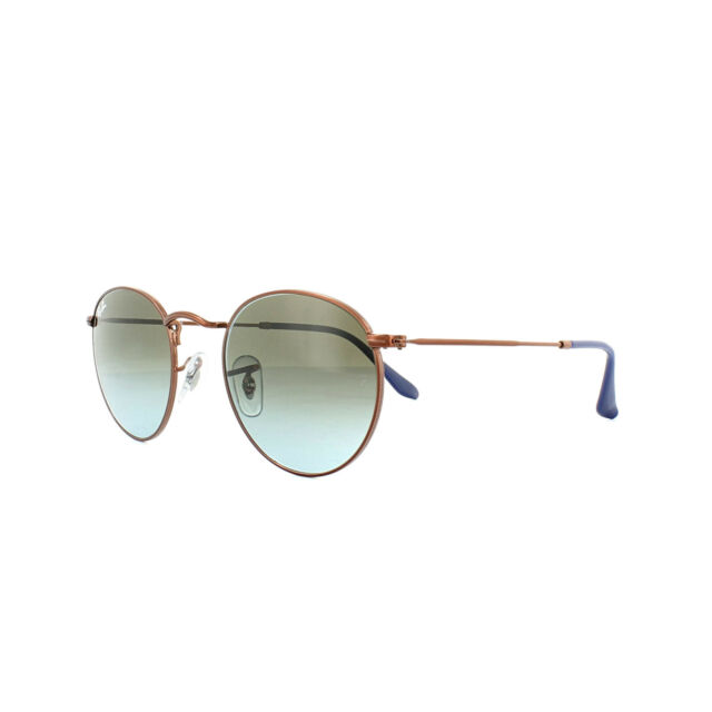f170d09289 Ray-Ban Sunglasses Round Metal 3447 900396 Bronze Copper Blue Brown Gradient  53m